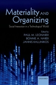 Materiality And Organizing : Social Interaction in A Technological World