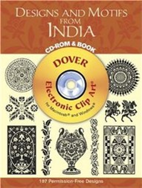 Designs And Motifs From India Cd-Rom And Book (Dover Electronic Clip Art) (Paperback)