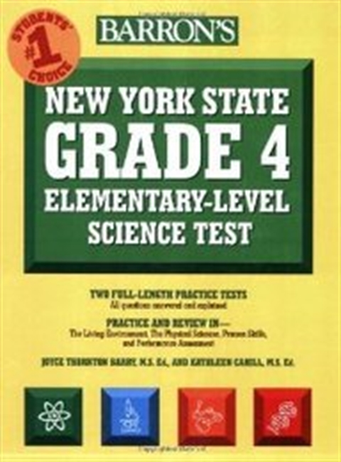 Barrons New York State Grade 4 Elementary-Level Science Test