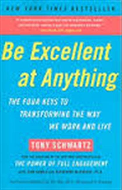 Be Excellent At Anything : The Four Keys to Transforming The Way We Work And Live